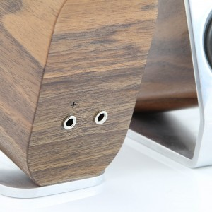 Desktop speakers by Shannon Ley - audio connection