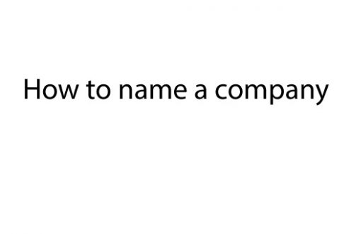 How to name a company